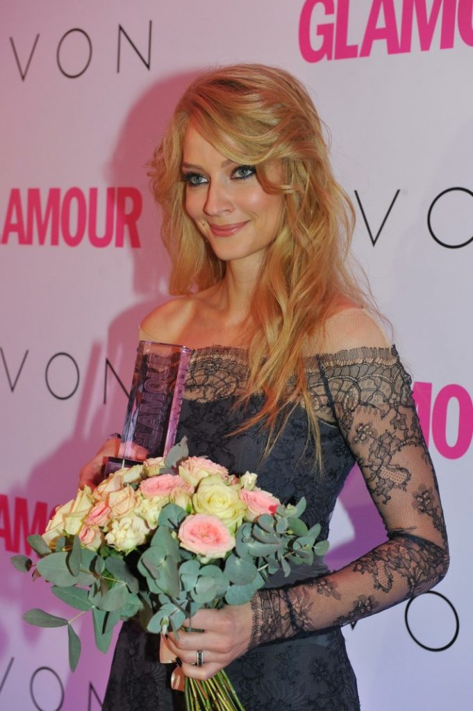 November 12, 2013. - Russia, Moscow. - 'Glamour Woman of the Year 2013' Awards ceremony at the Russian Academic Youth Theatre. In picture: winner of 'Actress of the Year' award Svetlana Khodchenkova