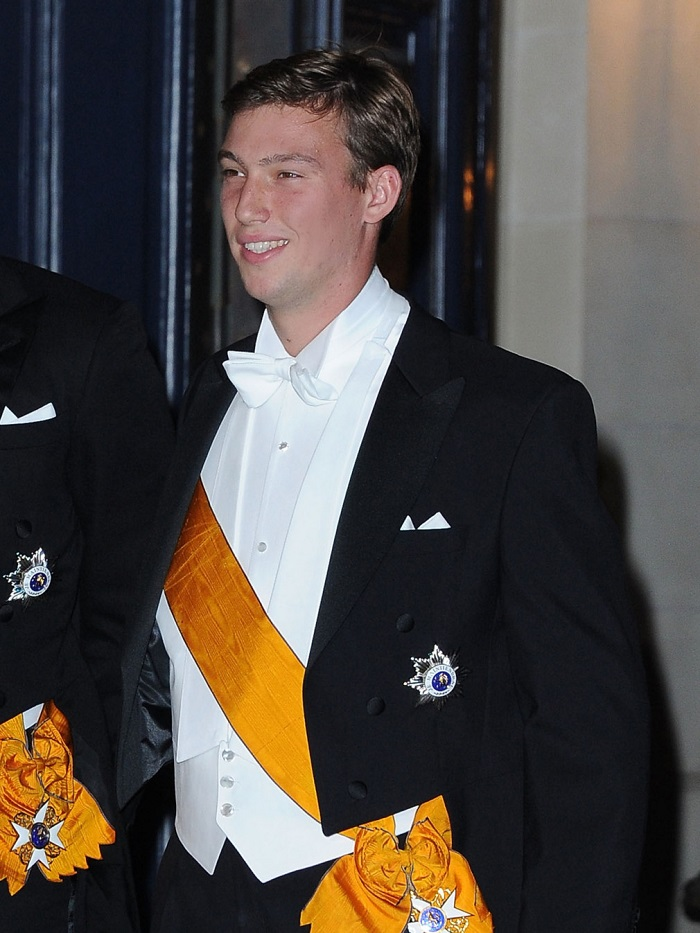 LUXEMBOURG - OCTOBER 19: Prince Sebastian of Luxembourg, Prince Louis of Luxembourg and Prince Felix of Luxembourg attend the Gala dinner for the wedding of Prince Guillaume Of Luxembourg and Stephanie de Lannoy at the Grand-ducal Palace on October 19, 2012 in Luxembourg, Luxembourg. The 30-year-old hereditary Grand Duke of Luxembourg is the last hereditary Prince in Europe to get married, marrying his 28-year old Belgian Countess bride in a lavish 2-day ceremony. (Photo by Pascal Le Segretain/Getty Images)