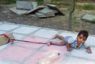Эту малышку привязали посреди оживленной улицы