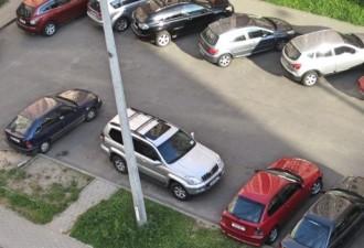 Гениальный способ «отвоевать» себе бесплатное парковочное место во дворе