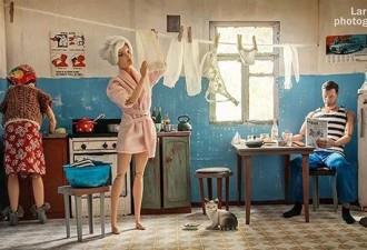 Фотограф показала какой была бы жизнь Барби и Кена в СССР