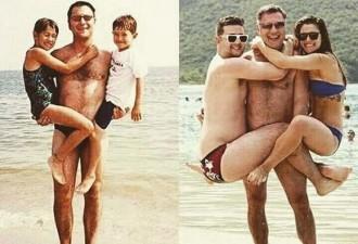 Эти люди воссоздали свои семейные фото по прошествии нескольких лет (12 фото)