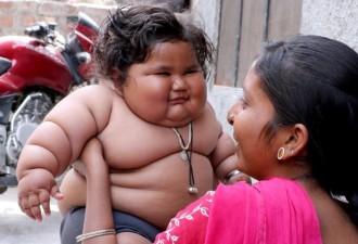 Эту  8-месячную малышку раскормили до 17 килограмм (4 фото)