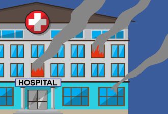 Однажды ночью в больнице начался пожар