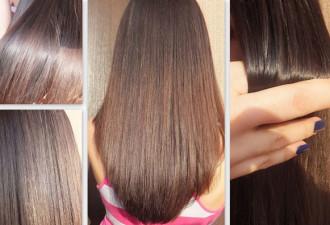 Она взяла обычный «ПАНТЕНОЛ» и нанесла равномерно на свои волосы