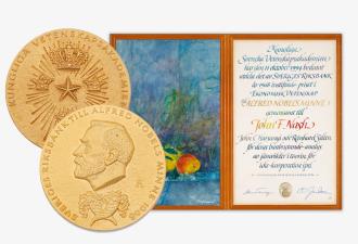 Сколько стоит Нобелевская медаль? (3 фото)