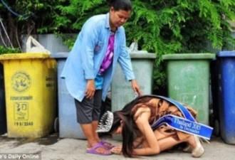 Тайская королева красоты встала на колени перед матерью, работающей дворником… (4 фото)