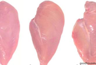 Перестаньте покупать куриные грудки с такими белыми прожилками! (4 фото)