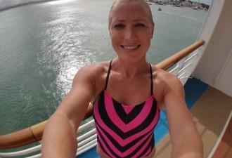 Невероятный прыжок в бассейн движущегося круизного лайнера (видео)