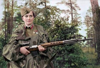 Леди Смерти: Вот цветные фото советских женщин, убивших 309 фашистов! (11 фото)