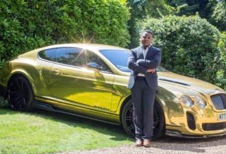 19-летний парень продавал бигмаки, а теперь ездит на золотом Bentley (3 фото)