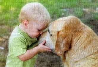 -Максим, отойди от него! История о малыше и собаке