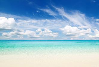 Как готовят пляж к приезду богатого человека…