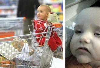 Мама усадила сына в тележку в магазине… наутро он чуть не умер! (5 фото)