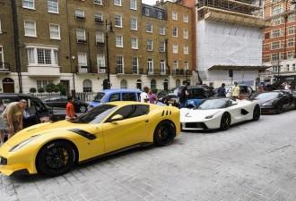 Роскошный автопарк сына катарского шейха на улице Лондона (10 фото)