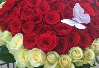 К 8 марта в России сдают в аренду огромные букеты роз и бойфренда (3 фото)