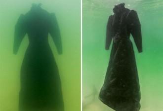 Художник оставил платье в Мертвом море на 2 года. И вот, во что оно превратилось (7 фото)