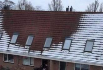 Очевидцы начали обращать внимание на интересный феномен на одной из крыш города (4 фото)