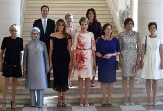 Это фотография первых леди руководителей стран НАТО
