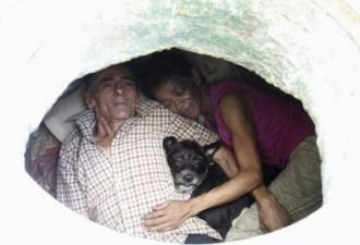 Пара 22 года жила в канализационном колодце (10 фото)
