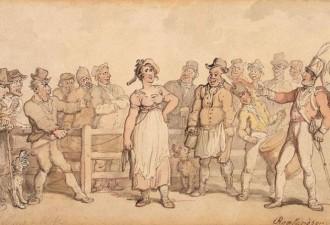 В Англии XVIII-XIX века очень интересно избавлялись от надоевших жён (4 фото)