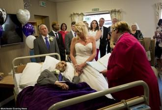 Они сыграли свадьбу прямо в хосписе, торопясь обогнать смертельное раковое заболевание (6 фото)