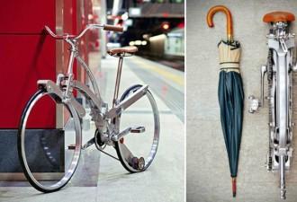 Велосипед, складывающийся до размеров зонтика (4 фото)