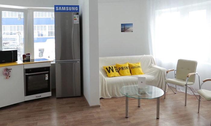 Apis-Cor-Tiny-House-Kitchen-Living-Room-