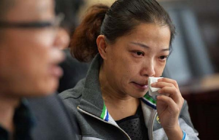 """PICTURED: the mother Zhou Lu, 34, A Chinese mum who nursed her dying son for two years even though she was seriously ill herself has been cured after doctors used the boy's kidney when he died to save her life. The tragic story started when Chen Xiaotian from Jinzhou city in Hubei province in central China was diagnosed as having a malignant brain tumour aged just five. He was treated and given an operation and for a few months it seemed that everything was well, but then the tumour returned with a vengeance and doctors told his parents there was little chance he would survive. In addition his mother Zhou Lu, 34, had been diagnosed as suffering from kidney failure that left her permanently ill and in need of dialysis treatment. Despite her illness however she continued to care for her son, taking him for regular treatment at the hospital as he gradually worsened. Eventually he became blind and shortly before he died had become bedridden and virtually paralysed, with his mother and grandmother having to do everything to care for him. Grandma Lu Yuanxiu, 57, said: """"The doctors approached me rather than his mother because of the sensitive nature of the issue. They told me that my grandson not survive but his kidneys could help his mother and also save to other lives as well. """"I discussed it with Zhou and she refused point-blank, she absolutely didn't want to hear any talk of that happening."""" But the Gran had enlisted the help of her grandson who had told his mother: """"I want to save your life."""" In tears, his mother had agreed to the doctor's proposal saying that what changed her mind was the thought that if her son was to die, part of him would live on in her. Doctors confirmed that the tissue match was perfect and when he died on April 2, he was quickly moved to the operating theatre where his kidneys and liver were removed donated to his mother and two other people. The second kidney went to a 21-year-old girl and his liver to a 27-year-old man. Hospital sp"""