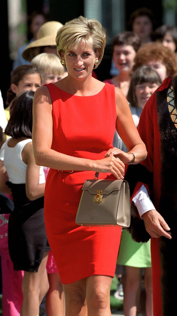 LONDON, UNITED KINGDOM - JULY 21: Diana, Princess Of Wales, At Northwick Park & St. Mark's Hospital In Harrow, Middlesex, To Lay The Foundation Stone For The New Children's Ambulatory Care Centre (casualty). Diana's Dress Is By Fashion Designer Catherine Walker. (Photo by Tim Graham/Getty Images)