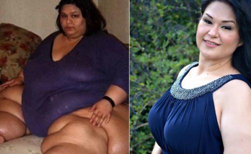 Рис.3 Майра Лизбет Росалес до и после похудения