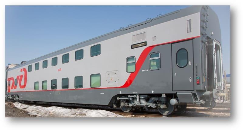 Новинка от «РЖД»: как выглядит 2-этажный поезд внутри