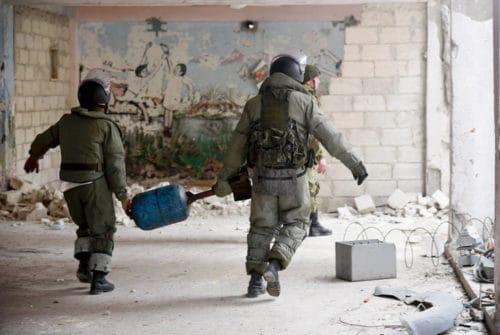 Рис. 9. Российские саперы в Алеппо