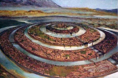 Рисунок 1. Внутреннее устройство материка, описанного Платоном.