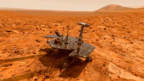 Рис.1 Марсоход Opportunity на 13-м году службы