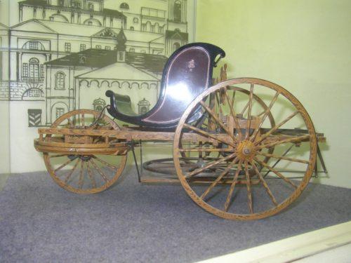 Рис. 2. Модель самобеглой коляски Ивана Кулибина