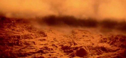 Рис.3 Пылевой шторм на Марсе, снятый ровером Curiosity