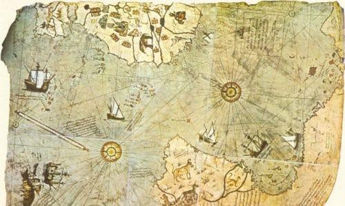 Рисунок 6. Один из сохранившихся фрагментов карты Пири-рейса.