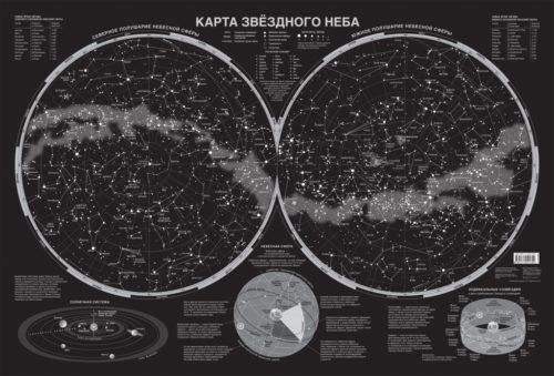Рисунок 5. Звездное небо Северного и Южного полушарий.
