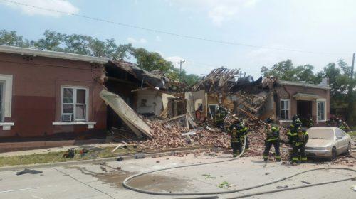 Рисунок 7. Взрыв газа в доме.