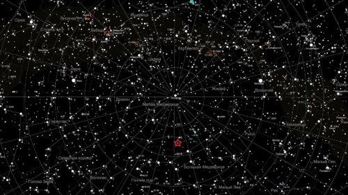Рисунок 6. Карта звездного неба