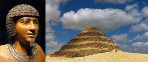 Рис. 9. Портрет Имхотепа. Ступенчатая пирамида